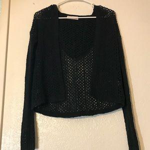 Sz S Girls Abercrombie Crochet Sweater with Hood